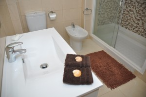 Bath with walk-in-shower