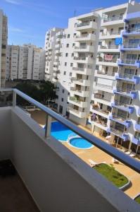 North facing balcony
